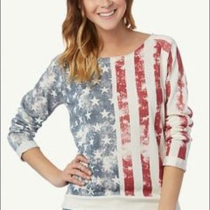 Rue 21 🇺🇸 American Flag Sweatshirt Size Medium